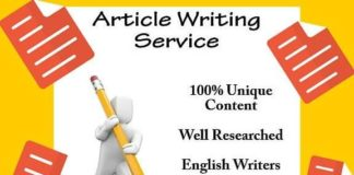 write an article that is optimized for seo